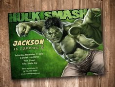 A personal favorite from my Etsy shop https://www.etsy.com/listing/246317432/digital-download-hulk-smash-personalized