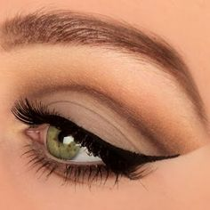 A precise flicked eyeliner is featured in this day to night eye makeup. Get the products used here and DIY this look.