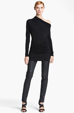 Donna Karan Collection Draped Jersey Tunic | Nordstrom