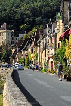 La Roque-Gageac es una localidad francesa situada en la región de Aquitania, en el departamento de Dordoña. Ubicado al pie de un acantilado, a orillas del río Dordoña, goza de un clima muy similar al mediterráneo.
