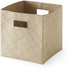 Serena & Lily Pandan Woven Square Bin ($38) ❤ liked on Polyvore featuring home, home decor, small item storage, woven storage bins, storage bins, woven bin and tropical home decor