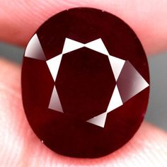 8.61 Ct. Gorgeous! Natural Ruby Oval Facet Top Blood Red Madagascar #Gemnatural