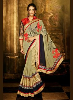 Design and style and trend will be at the peak of your elegance when you attire this Tan Brown Georgette Saree. The ethnic Resham & Lace work at the clothing adds a sign of attractiveness statement with your look. Buy Online Designer Ethnic Saree, Party Wear, Kitty Party Wear, Ceremonial Wear, Sarees, Shari, Sari, Indian Saris For women. We have large range of Designer Sarees Online in our website with the best pricing and unique designs shipping to World Wide.