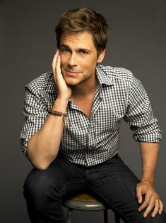 Rob Lowe in check shirt