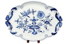 Vermilion Designs - Antique Meissen Floral Oval Tray | One Kings Lane