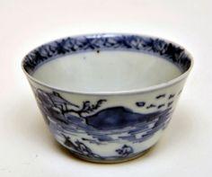 Tea Bowl, c.1736-95    Tea Bowl, c.1736-95  Porcelain with underglaze blue  Chinese  Unmarked  Height: 3.5 cm; Diameter: 6.5 cm.