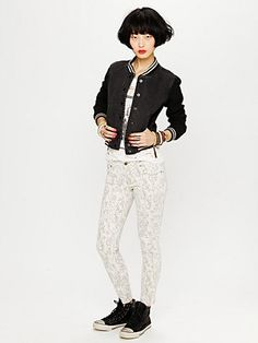 Printed Ankle Skinny  http://www.freepeople.com/whats-new/printed-ankle-skinny/