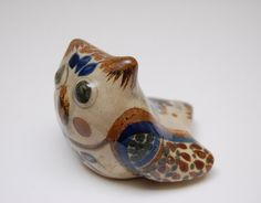 Mexican Pottery Tonala OWL Figurine 4 by TheRecycleista on Etsy,