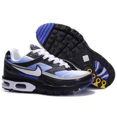 Mens Nike Air Max Black Tn Fusion Shoes Blue White