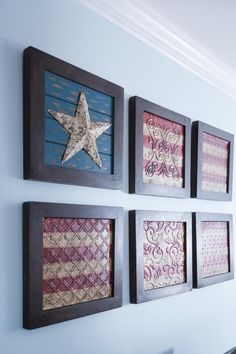 A Classic Americana Beach House Renovation – Home Renovation Patriotic Bedroom, Americana Bedroom, Fourth Of July Decor, 4th Of July Decorations, July 4th, December 26, Patriotic Crafts, Americana Crafts, Beach House Decor