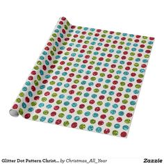 Glitter Dot Pattern Christmas WRAPPING PAPER