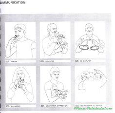 """Je poursuis mon apprentissage de la LSF et aujourd'hui, je vous mets des signes sur la communication. Ces signes sont un livre que j'avais enfant. Il y a des signes comme l'internet qui n'y figure pas, mais que l'on peut trouver sur """"Sematos"""" http://www.sematos.eu/lsf-p-internet-7195.html..."""