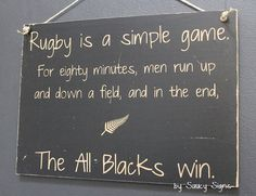 Simple Game Rugby Sign Silver Fern All Blacks Kiwi New Zealand Football Sign Rugby Memes, Rugby Quotes, Rugby League, Rugby Players, Rugby Sport, Rugby Club, All Blacks Rugby, Football Signs, New Zealand Rugby