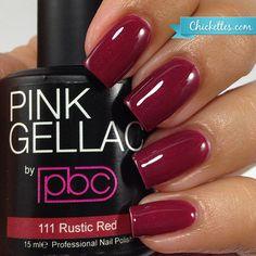 #111 Pink Gellac Rustic Red
