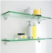 Prateleiras de vidro para banheiro