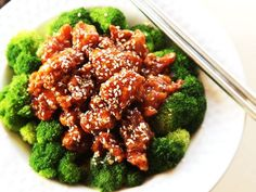 Crispy chunks of deep-fried battered chicken in a sweet, sour, and savory glaze packed with sesame flavor. The Chinese take-out classic, made in your own kitchen.\n