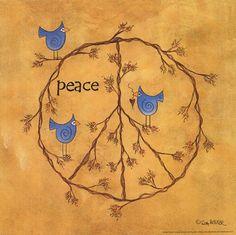 Twiggy Peace Wholesale Art Print at Lieberman's Hippie Peace, Happy Hippie, Hippie Love, Hippie Art, Hippie Style, Peace On Earth, World Peace, Peace Of Mind, Peace Love Happiness