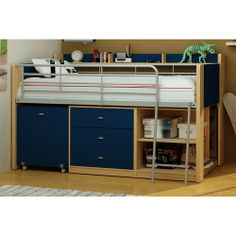 walmart charleston bed | Charleston Loft Bed with Desk, Navy and Natural {Lego theme}