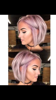 Flair for Hair, hairstyles, short hair, hair goals, icy lavender Long Hairstyles, Pretty Hairstyles, Hairstyle Ideas, Celebrity Hairstyles, Natural Hairstyles, Teenage Hairstyles, Funky Bob Hairstyles, American Hairstyles, Easy Hairstyle