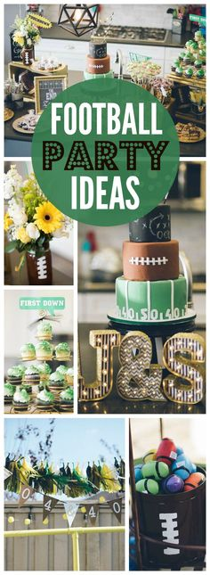 These sports loving, football fanatics throw a birthday party! See more par… These sports loving, football fanatics throw a birthday party! See more par…,Rit birthday party These sports loving, football fanatics throw. Football Birthday, Sports Birthday, Sports Party, 40th Birthday Parties, 10th Birthday, Birthday Ideas, Birthday Boys, Theme Sport, Football Banquet
