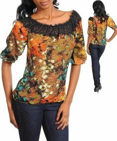 Do & Be Multi Color Womens Floral Lace New Sz Small Top $8