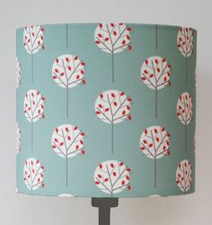 tree pattern print lampshade by louise brainwood | notonthehighstreet.com