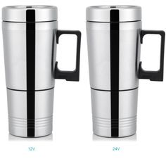 Auto Electric Heater Car Mug Heater Cup Bottle Stainless Steel Coffee Tea Water Mug Vehicle Heating Drinking Cup X Car, Insulated Cups, Electric Cars, Drinking, Vehicle, Home Improvement, Stainless Steel, Tea, Mugs