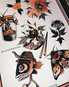japanese tattoos and meanings Japanese Tattoo Symbols, Japanese Tattoo Art, Japanese Tattoo Designs, Japanese Art, Irezumi Tattoos, Tattoo Sketches, Tattoo Drawings, Art Tattoos, Tattoo Ink