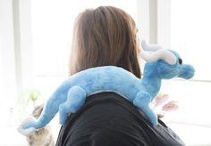 Shoulder Dragon Plush Sewing Pattern, Stuffed Animal Pattern, PDF File, Digital Download