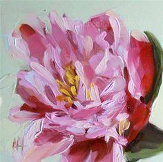"""Pink Peony no. 4"" - Original Fine Art for Sale - © Angela Moulton"