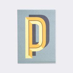 Letter P Bau Deco Alphabet Letter Poster