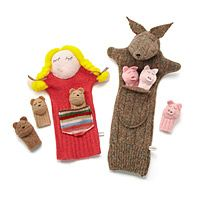 STORYBOOK PUPPETS|UncommonGoods....These are so darn cute!!! and made in Illinois!!