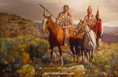 """Ridge Riders""Native American Prints by J. Hester kK"