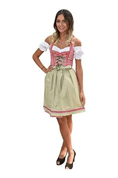 Dirndl golden grau