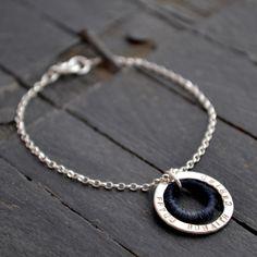 Personalised Silver & Wool Circles £50.00