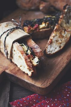 Spinach Fritatta sandwich.