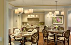 Rolling Green Village dining room renovation living quarters CCRC