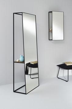 Freestanding rectangular mirror CHASSIS XL | Freestanding mirror - Reflect+ by Deknudt Mirrors