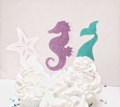 Hey, I found this really awesome Etsy listing at https://www.etsy.com/listing/515559381/mermaid-cupcake-topper-under-the-sea