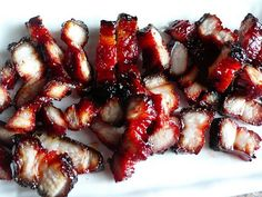 Chinese barbecue pork.  This is the best barbeque pork ever!!  Char sui seasoning, YES!