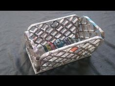 How to make a basket Using Newspaper - Best out of waste | Newspaper idea 13 - YouTube