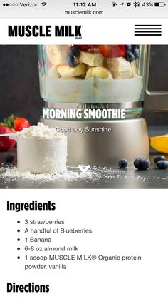 shake to gain muscle vanilla Protein shakes Muscle Milk Smoothie, Muscle Milk Protein Shakes, Vanilla Protein Shakes, Vanilla Protein Powder, Milk Shakes, Muscle Protein, Ninja Smoothie Recipes, Healthy Smoothies, Healthy Drinks