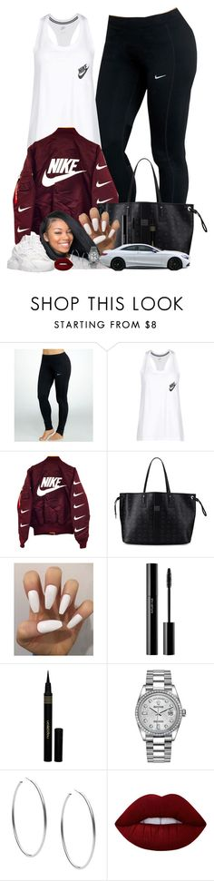 """""""Untitled #178"""" by yomo-bribri ❤ liked on Polyvore featuring NIKE, MCM, shu uemura, Napoleon Perdis, Rolex, Michael Kors and Lime Crime"""