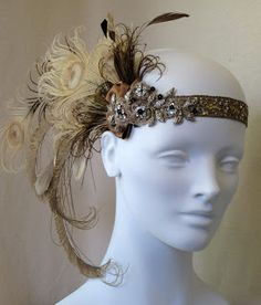 Silver Sixpence - Vintage Style Weddings: Wedding Styling: 1920s Flapper Style Headbands