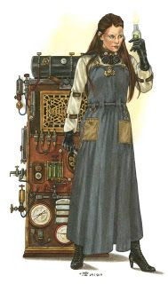 Character art from the German Space 1889 Game on Frank Chadwick's Space:1889 Blog