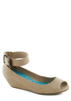 Keep it Casual Wedge in Sand, #ModCloth