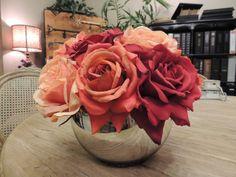roses in a Jan Barboglio bowl