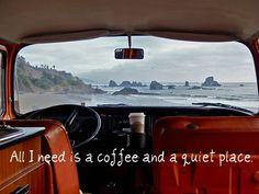 coffee, the ocean and a nice car to travel. sounds good to me. The Places Youll Go, Places To Go, Serenity, Vw Camping, Camping Tips, Outdoor Camping, Wanderlust, Vintage Poster, I Love Coffee