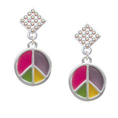 Bright Translucent Multicolored Peace Sign AB « Holiday Adds