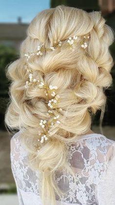 Lace Wedding, Wedding Dresses, Blonde Hair, Wedding Hairstyles, Hair Styles, Fashion, Bride Dresses, Hair Plait Styles, Moda
